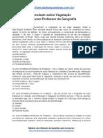 19. Simulado Sobre Vegetação Concurso Professor de Geografia
