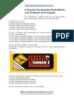 Simulado Sobre Orações Coordenadas Assindéticas Concurso Professor de Português