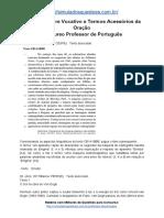 Simulado Sobre Vocativo e Termos Acessórios Da Oração Concurso Professor de Português