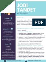 Jodi Tandet's resume