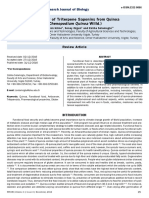 Bioactivity of Triterpene Saponins From Quinoa Chenopodium Quinoa Willd