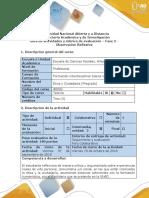 Guía de Actividades y Rúbrica de Evaluación - Fase 2 - Observación Reflexiva