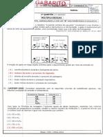 Gabarito Ae4 Química 1ano