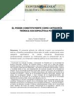 El poder constituyente como categoría teórica socio-política potente