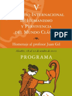 Congreso en  Homenaje al Prof. Juan  Gil (PROGRAMA)