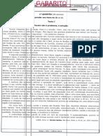 Gabarito Prf Língua Portuguesa 2ano