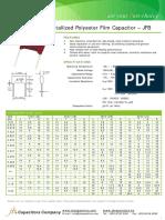 JFB Metallized Polyester Film Capacitor
