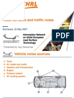 INQUEST Seminar (Bucharest) - Road Surface & Traffic Noise