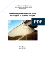 MSE Walls for Support of Highway Bridges