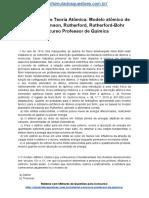 Simulado Sobre Teoria Atômica Modelo Atômico de Dalton Thomson Rutherford Rutherford Bohr Concurso Professor de Química