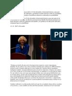 La Filósofa Norteamericana Recibió El 10 de Diciembre El Doctorado Honoris Causa Por Parte de La Universidad de Antioquia y Pronunció Un Duro Discurso Sobre Las Sociedades Que Están Formando Los Estados Con Políticas Educ