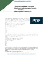 Simulado Sobre Propriedades Coligativas Tonoscopia Ebulioscopia Crioscopia e Pressão Osmótica. Concurso Professor de Química