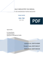 Data Envelopment Analysis and Productivity Analysis on Handmade Paper Clusters