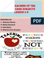 THE TEACHING OF THE LANGUAGE SUBJECTS.pptx