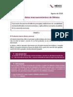 Principales Datos Macroeconómicos de México