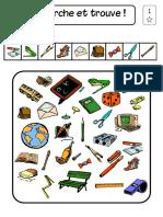 Ejercicios de Atención con elementos escolares