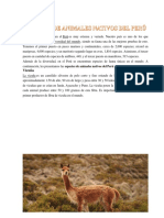 Especies de animales nativos del Perú