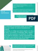ETICA DE PRACTICA CLINICA Y CODIGO DE ETICA EN ENFERMERIA