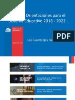 Énfasis y Orientaciones Para El Sistema Educativo 2018-22