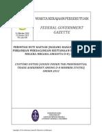 Pua_20131031_PU(a) 328 - Perintah Duti Kastam (Barang Di Bawah Perjanjian Perdagangan)