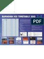 Swansea Mosque Ramadan Timetable 2010