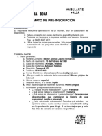FORMATO DE PRE-INSCRIPCIÓN AMA6