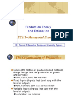 EC611--(Ch 06) Production Theory & Estimation