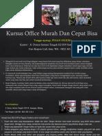 Kursus Microsoft Excel Advanced Fast Respon Call/ WA