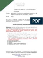 Requisitos Licencias Salud Ocupacional