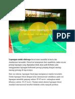 Paling Murah Dan Terbaik, Harga Lantai Lapangan Futsal, Wa 0821-8620-5040