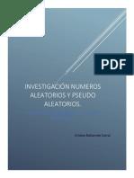Numeros Aleatorios y Pseudoaleatorios