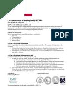 Cervical Cancer Screening Study FAQ Sheet