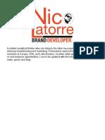 Nico Latorre Portfolio 2018