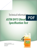 ASTM D975 Specification Test