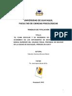 Tesis Gabriela Briones Clima Escolar y Rendimiento Academico Al 16 de Octubre de 2015