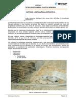 METALURGIA EXTRATIVA TECSUP OPERACION DE PLANTAS MINERAS