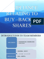 Compliance of Buy Back of Shares