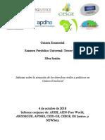 Informe EPU Derechos Civiles y Politicos Guinea Ecuatorial 2018.10.02