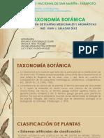 TAXONOMÍA BOTÁNICA