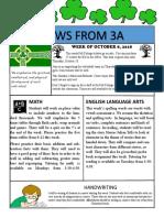 3a newsletter week of october 8