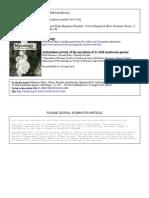 Antioxidant Activity of the Mycelium of 21 Wild Mushroom Species