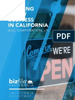 Business - Starting a New Business in California