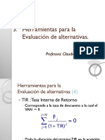3.2 Evaluación de Alternativas (TIR)