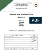 Práctica 6 Acústica y óptica - Guías de ondas y Fibras ópticas
