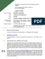 October 2018 Scrutiny Committee Agenda