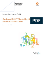 324830 Learner Guide for Cambridge Igcse Mathematics 0580