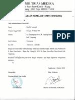Surat Pernyataan Memiliki Tempat Praktek