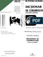 Leonard Gavriliu - Dictionar de Cerebrologie