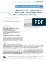 Reevaluation of the role of knee replacement in management of knee pain