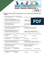 Soal UTS PKN Kelas 5 SD Semester 1 (Ganjil) Dan Kunci Jawaban (Www.bimbelbrilian.com)